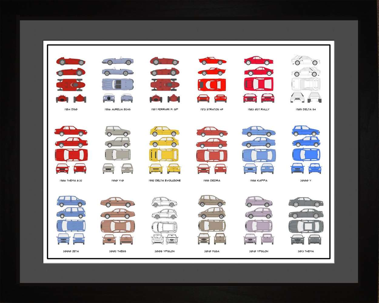 Lancia Auto Collection, 16x20
