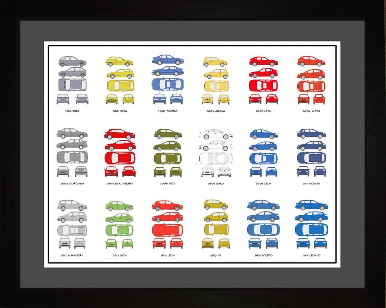 Seat Auto Collection, 16x20