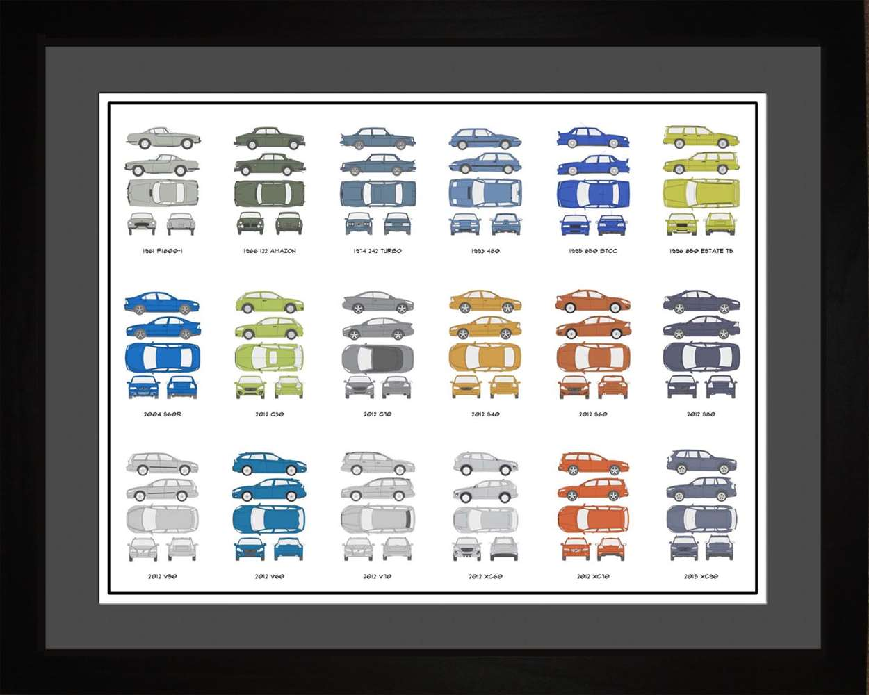 Volvo Auto Collection, 16x20