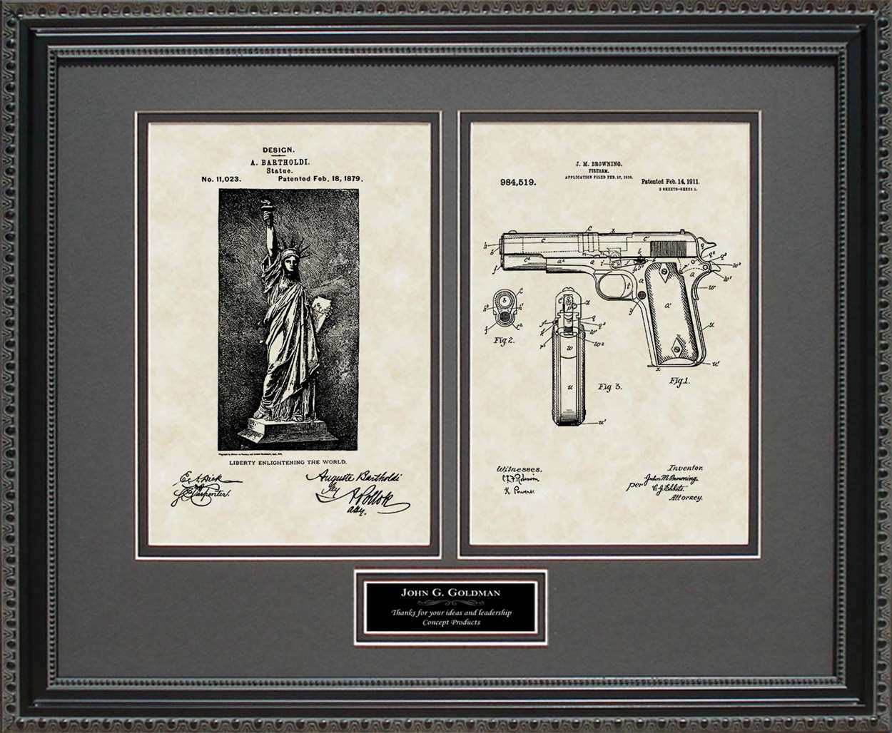 Personalized Freedom & Right to Bear Arms, 16x20