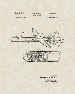 Guided Missle Patent Art, Boyd, 1961
