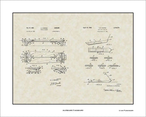 Skateboard & Snowboard Patents, 16x20