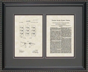 Telephone Patent, Art & Copy, Bell, 1876, 16x20