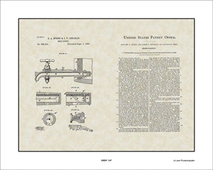 Beer Tap Patent, Art & Copy, Byrne, 1885, 16x20