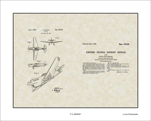 P-41 Aircraft Patent, Art & Copy, Berlin, 1943, 16x20