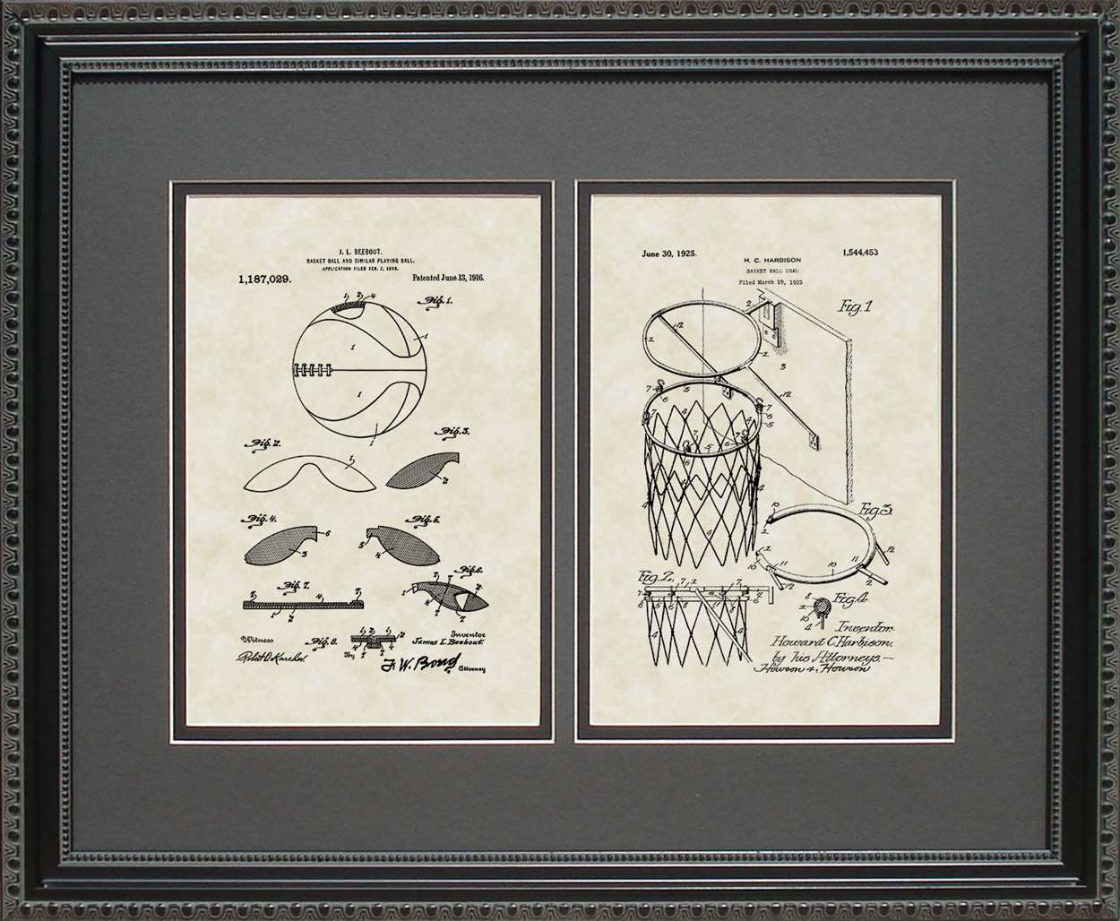Basketball & Goal Patents, 16x20