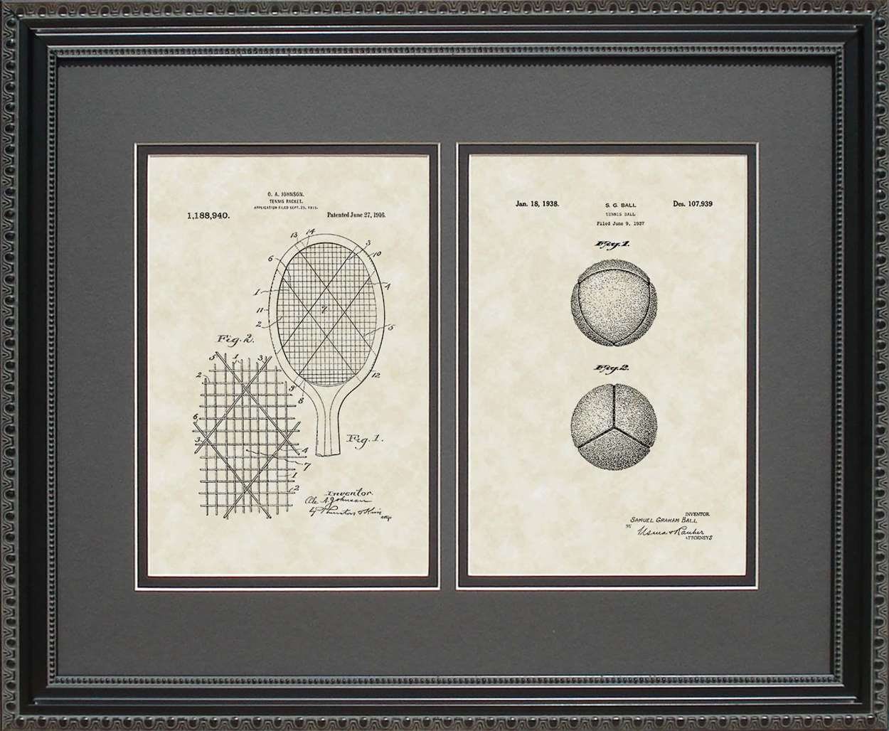 Tennis Ball & Racquet Patents, 16x20