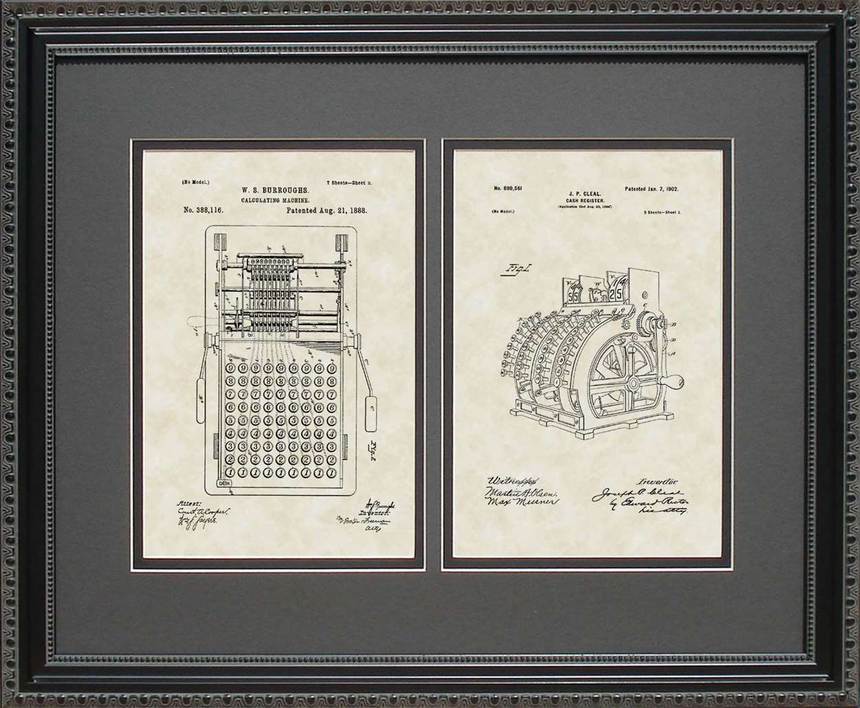 Calculator & Cash Register Patents, 16x20