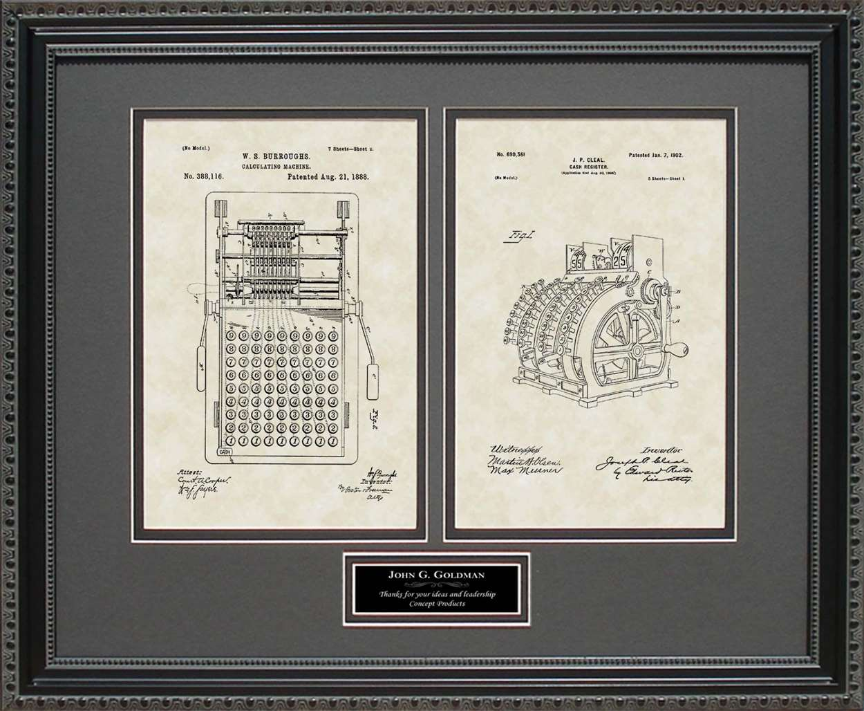 Personalized Calculator & Cash Register Patents, 16x20