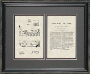 Toy Bank Patent, Art & Copy, Bailey, 1898, 16x20