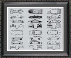 Alfa Romeo Blueprint Collection, 20x24
