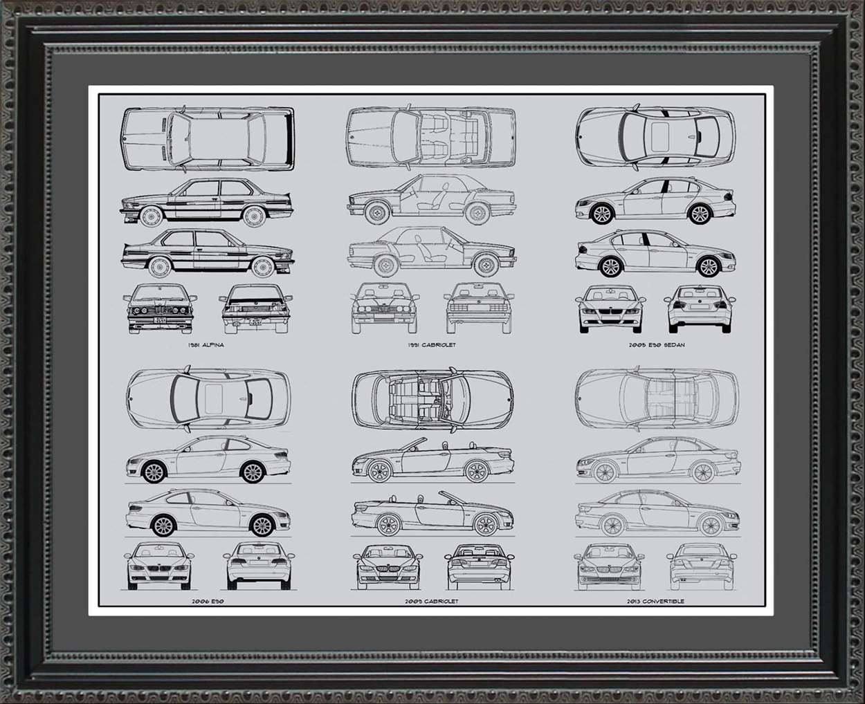 BMW 3-Series Blueprint Collection, 20x24