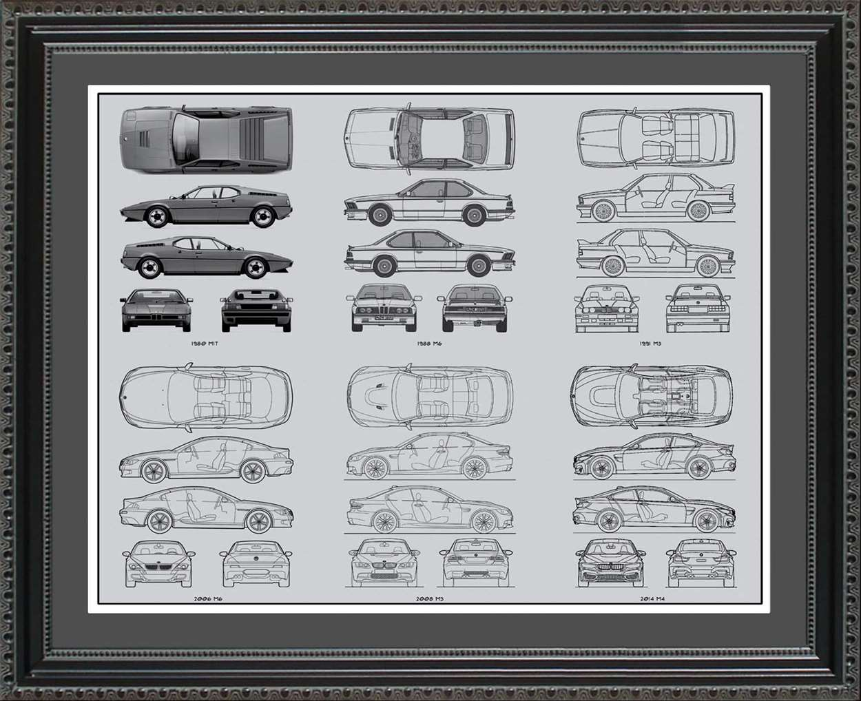 BMW M-Series Blueprint Collection, 20x24