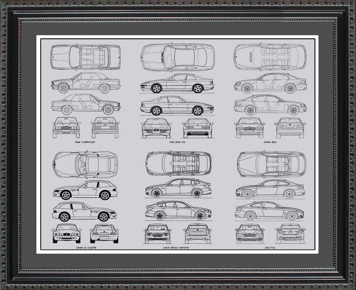 BMW Blueprint Collection, 20x24