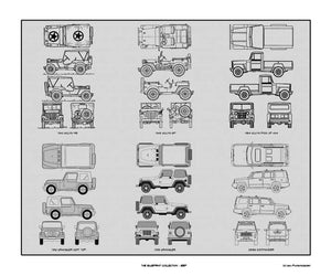 Jeep Blueprint Collection, 20x24