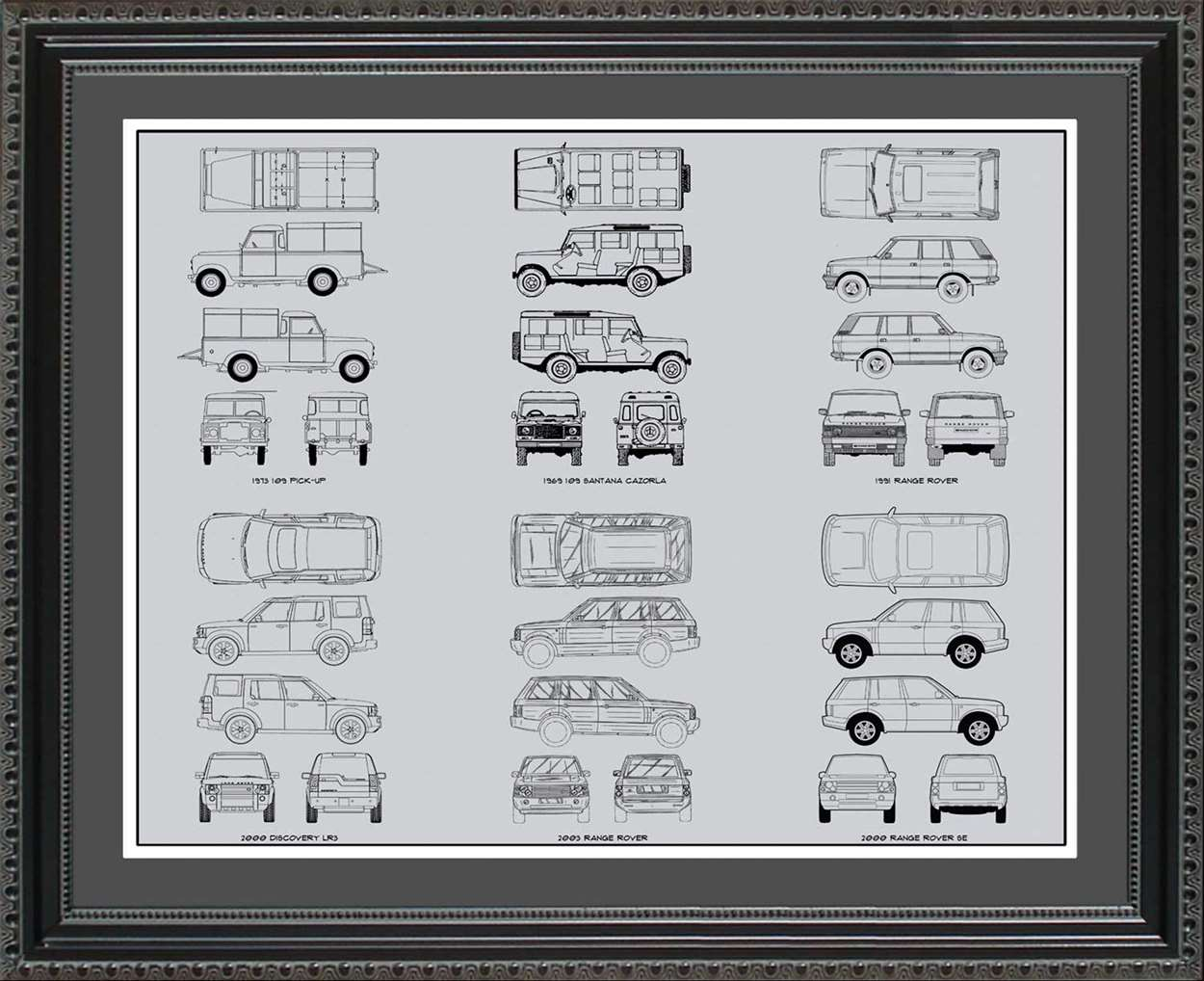 Land Rover Blueprint Collection, 20x24