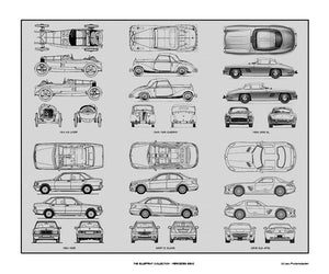 Mercedes Benz #2 Blueprint Collection, 20x24