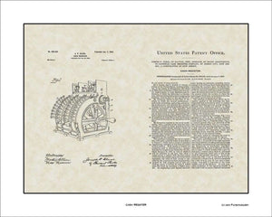 Cash Register Patent, Art & Copy, Cleal, 1902, 16x20