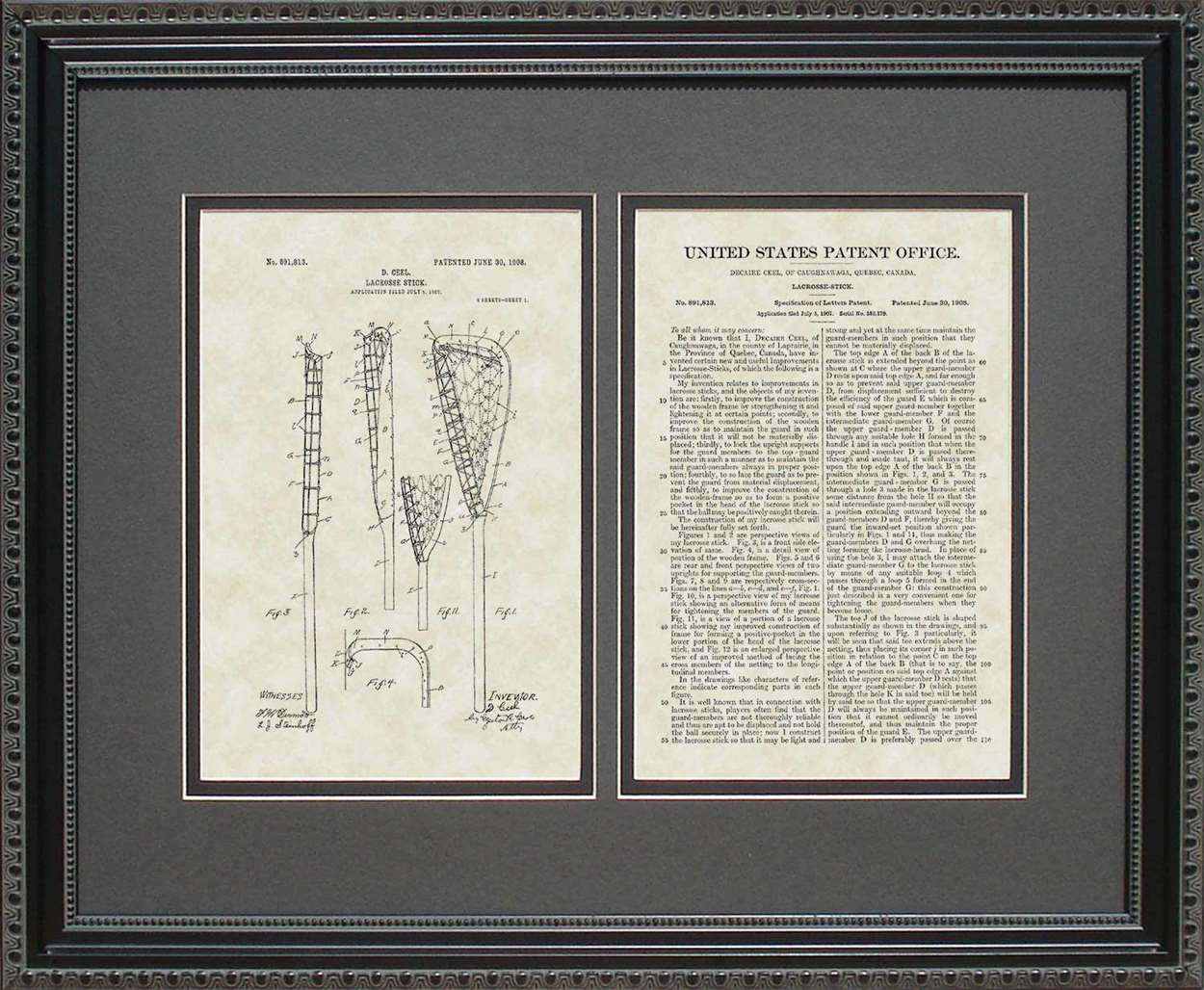 Lacrosse Stick Patent, Art & Copy, Ceel, 1908, 16x20