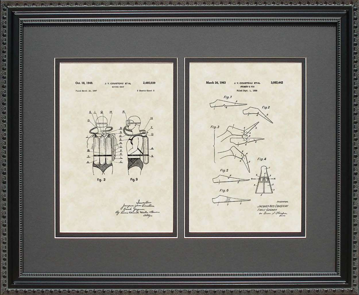 Scuba Equipment & Scuba Fins Patents, 16x20