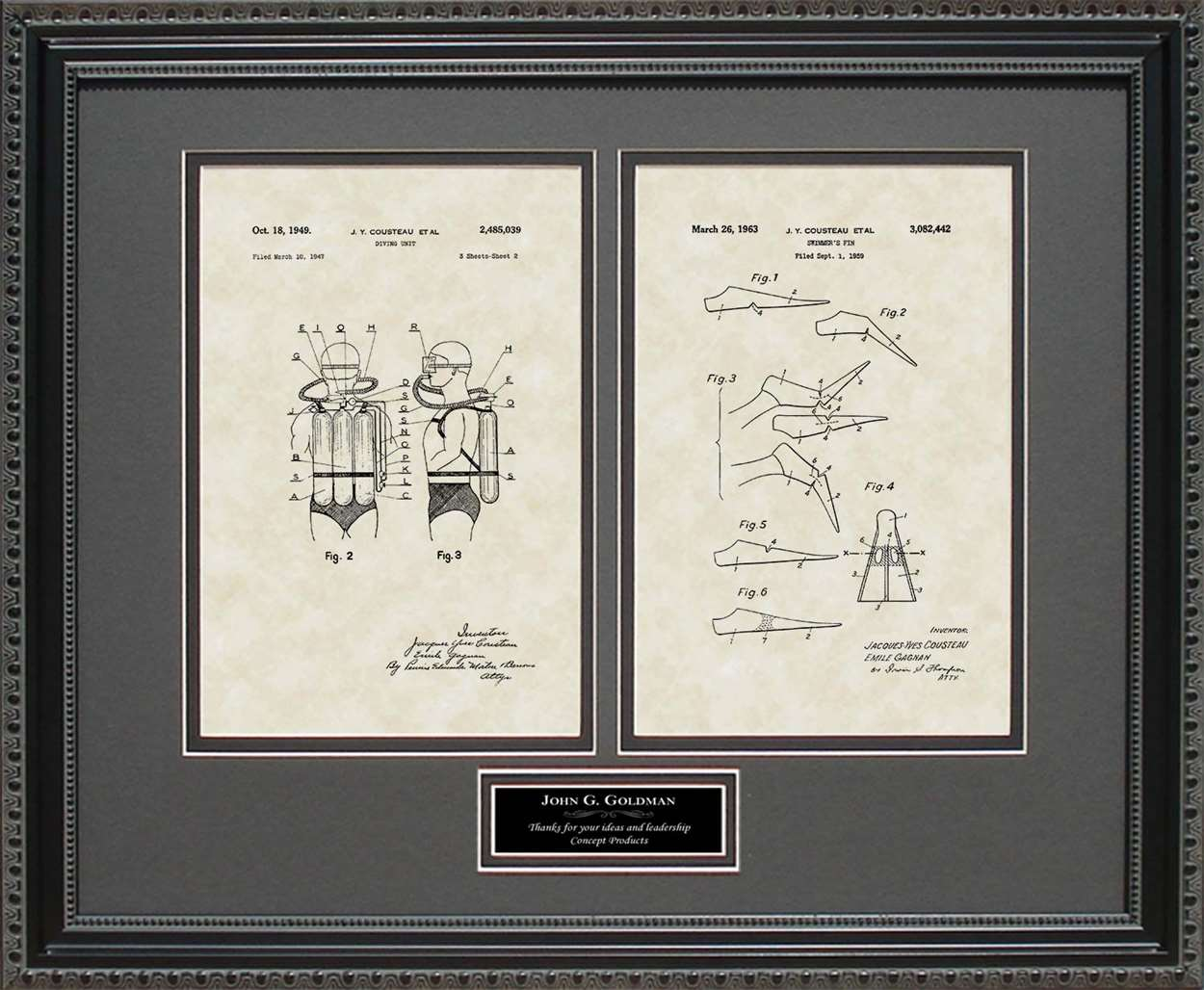Personalized Scuba Equipment & Scuba Fins Patents, 16x20