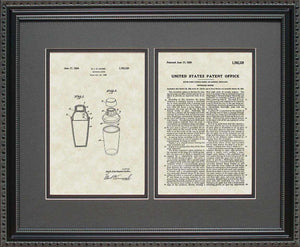 Cocktail Mixer Patent, Art & Copy, Cooke, 1930, 16x20