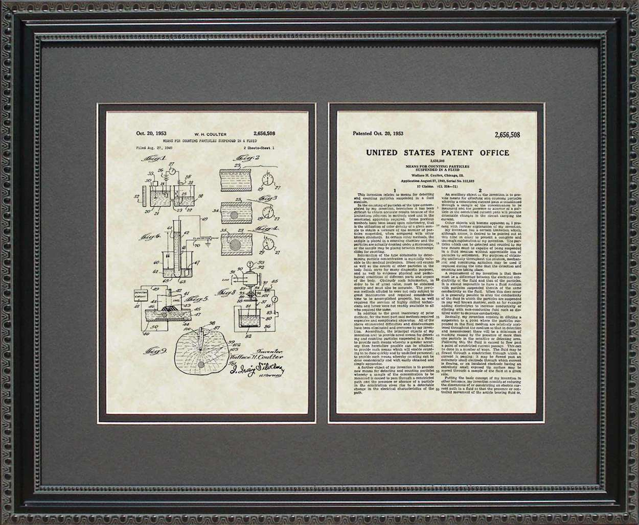 Coulter Principle Patent, Art & Copy, Coulter, 1953, 16x20