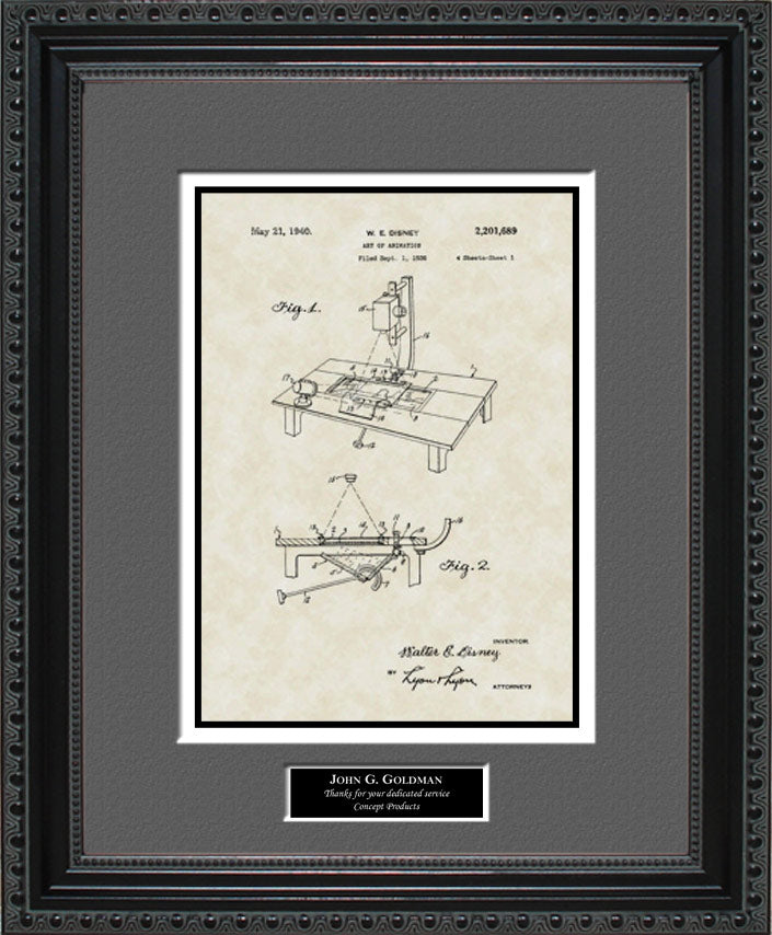 Personalized Art of Animation Patent Art, Disney, 1940