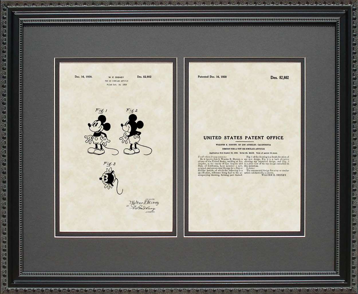 Mickey Mouse Patent, Art & Copy, Disney, 1930, 16x20