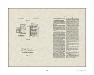 MRI Patent, Art & Copy, Damadian, 1974, 16x20