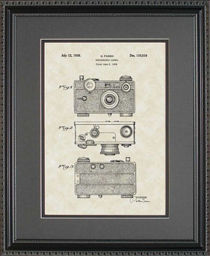 Camera Patent Art, Fassin, 1938