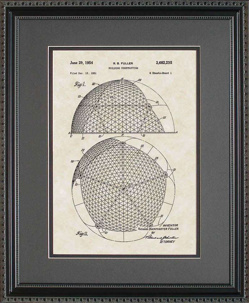 Geodesic Dome Patent Art, Fuller, 1954
