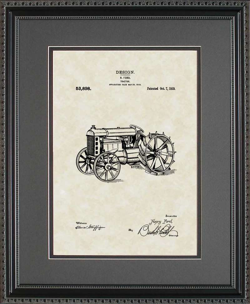 Tractor Patent Art, Ford, 1919