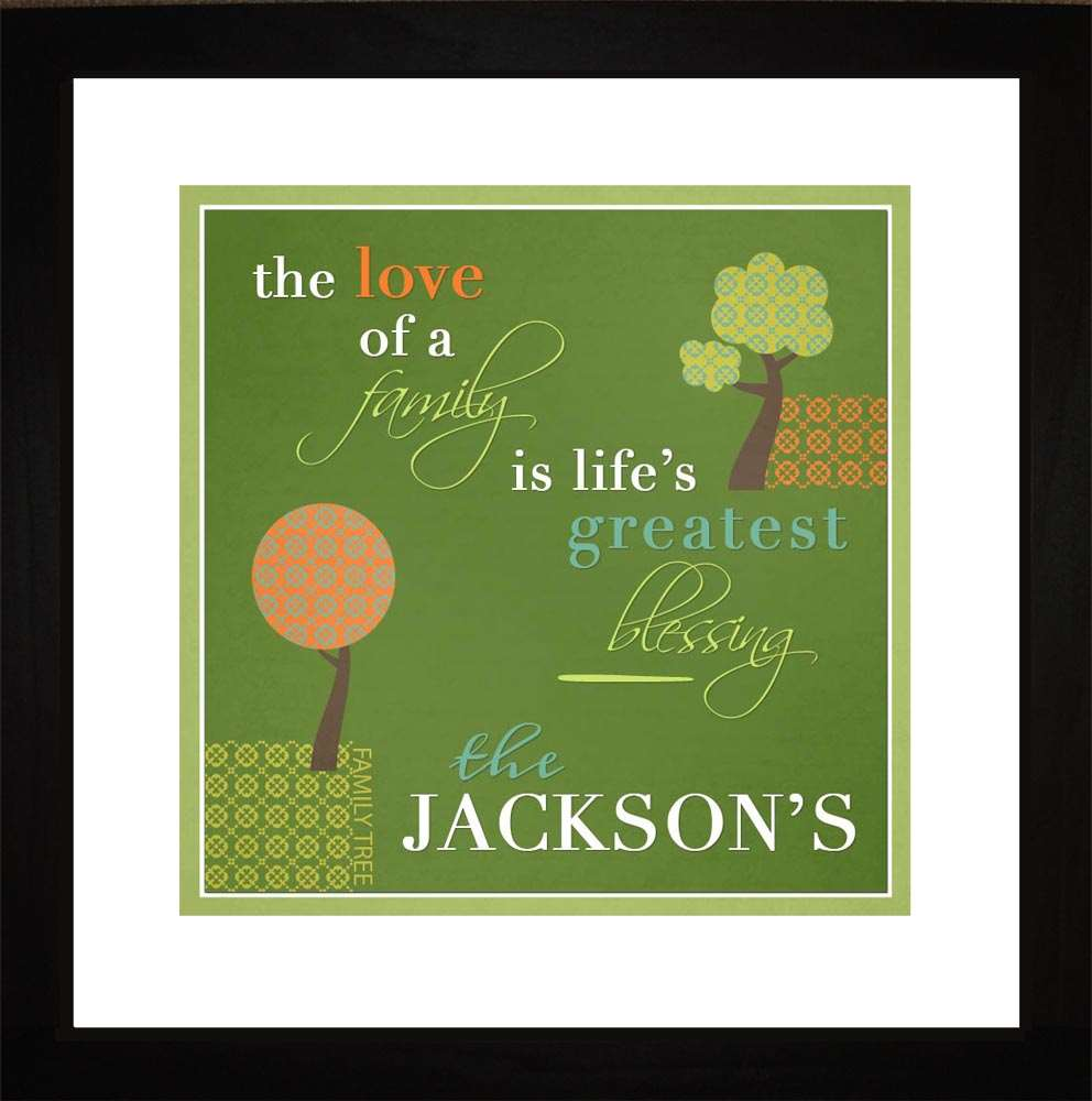 Love of a Family Personalized Art, 16x16