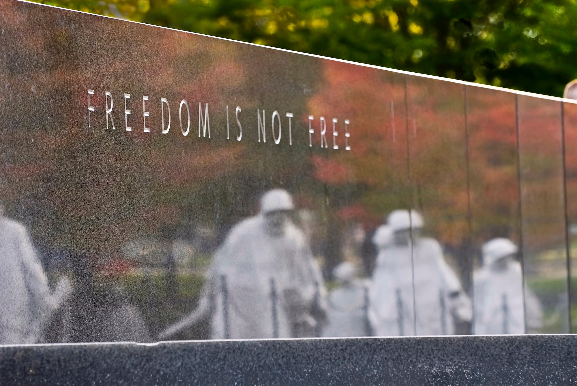 Freedom is Not Free - Korean War monument , 16x20