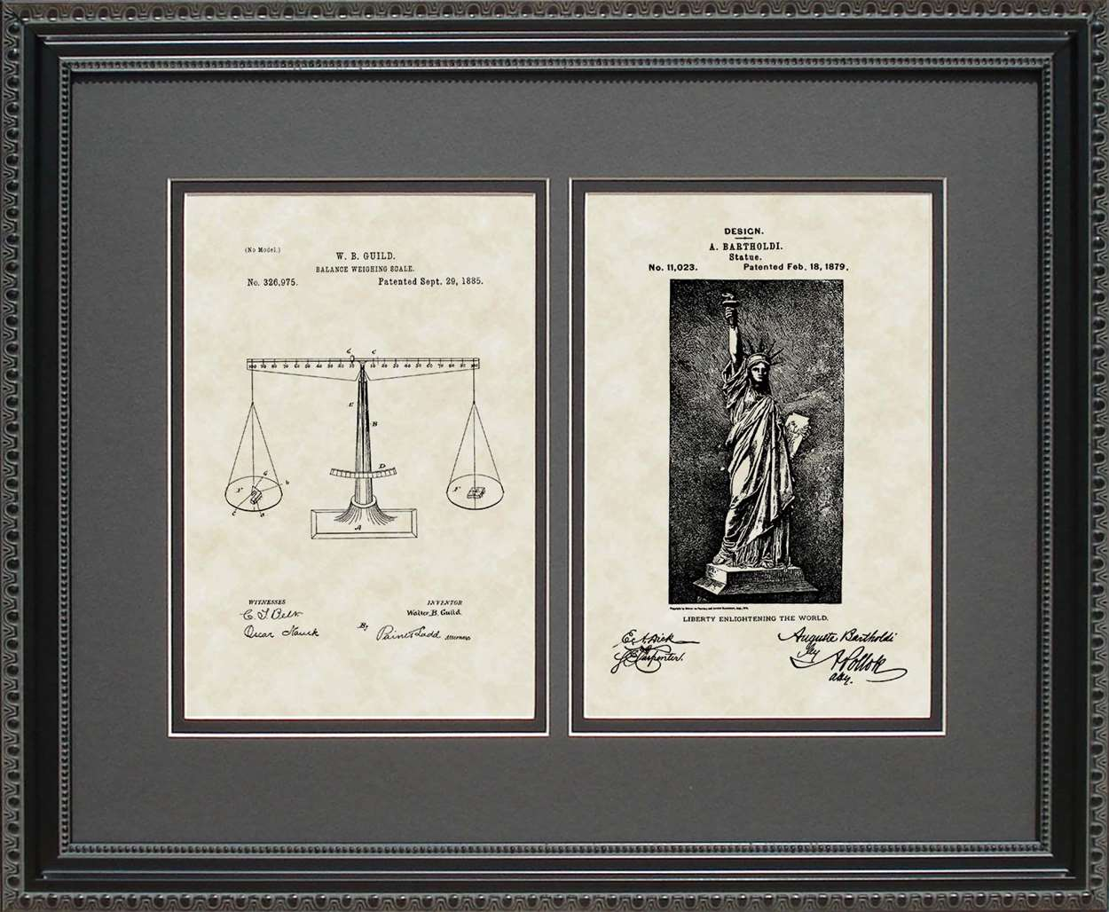 Scale & Statue of Liberty Patents, 16x20