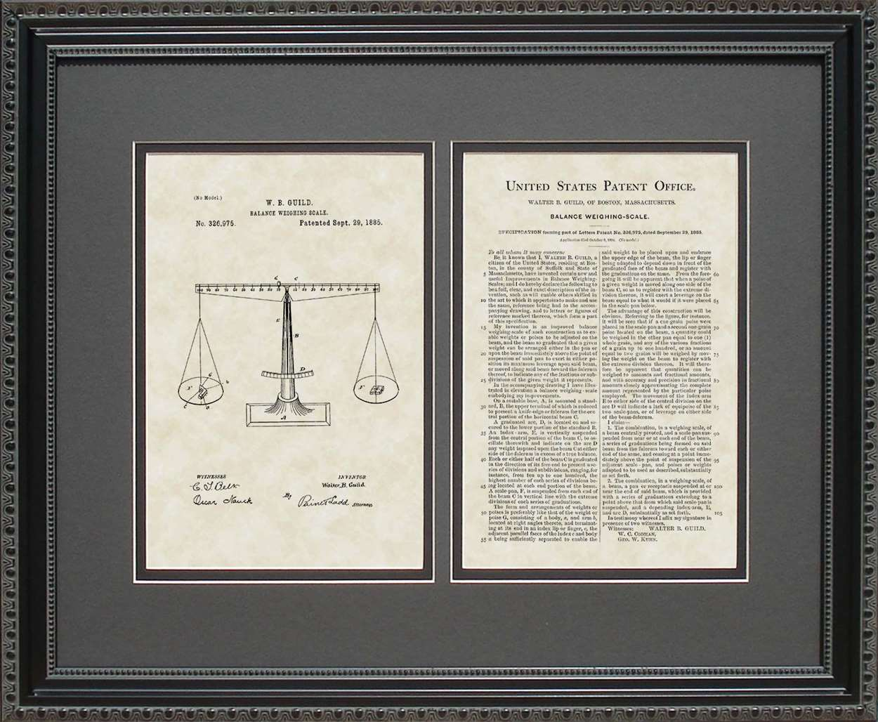 Scale Patent, Art & Copy, Guild, 1885, 16x20