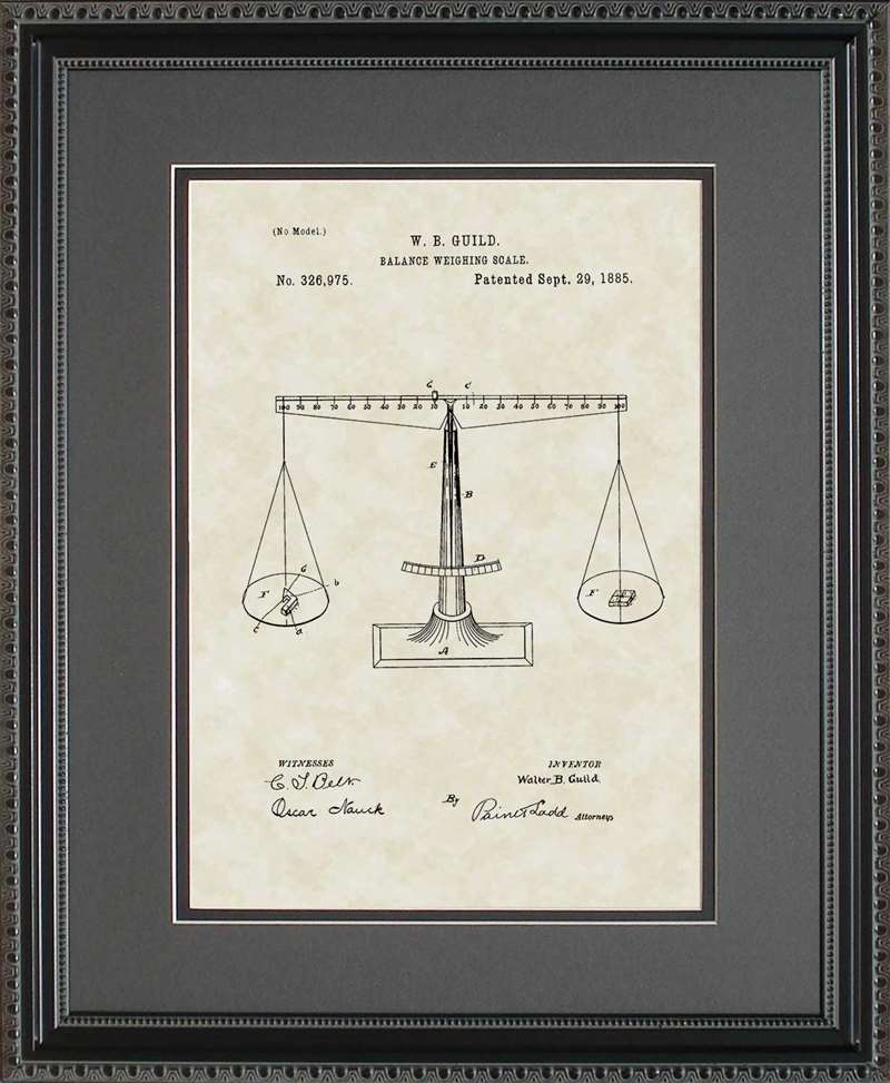 Scale Patent Art, Guild, 1885