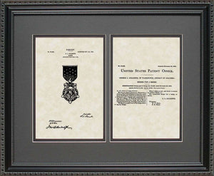 Medal of Honor Decoration Patent, Art & Copy, Gillespie, 1904, 16x20