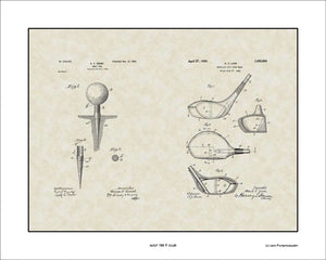 Golf Tee & Club Patents, 16x20