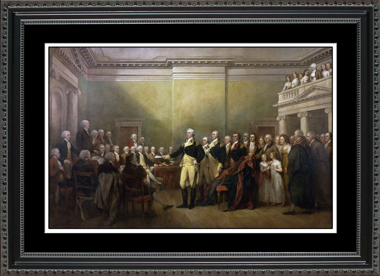 Washington Resigns His Commission, 14x20
