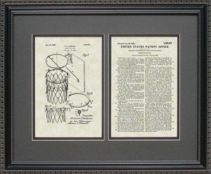 Basketball Goal Patent, Art & Copy, Harrison, 1925, 16x20