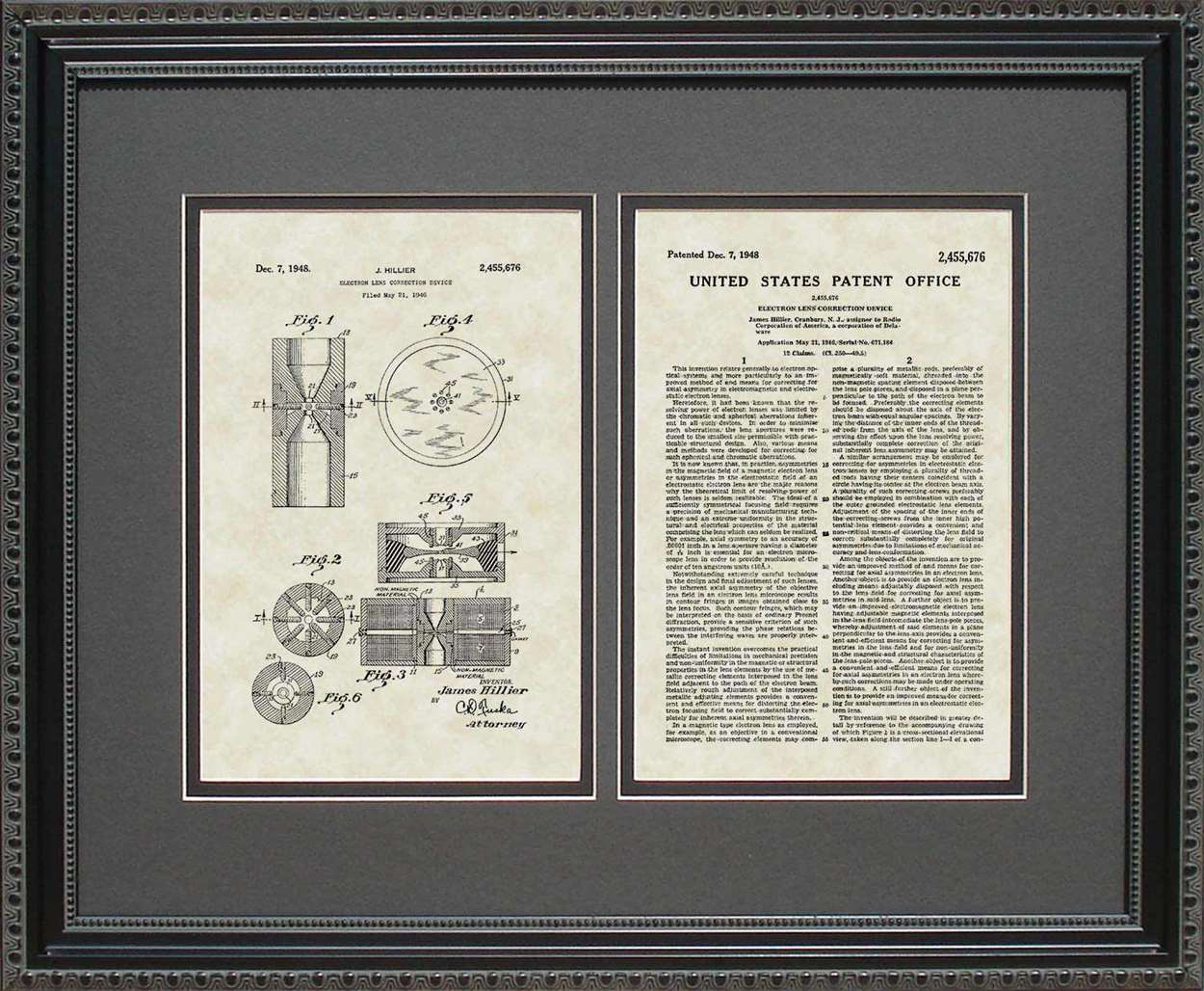 Electron Microscope Patent, Art & Copy, Hillier, 1948, 16x20