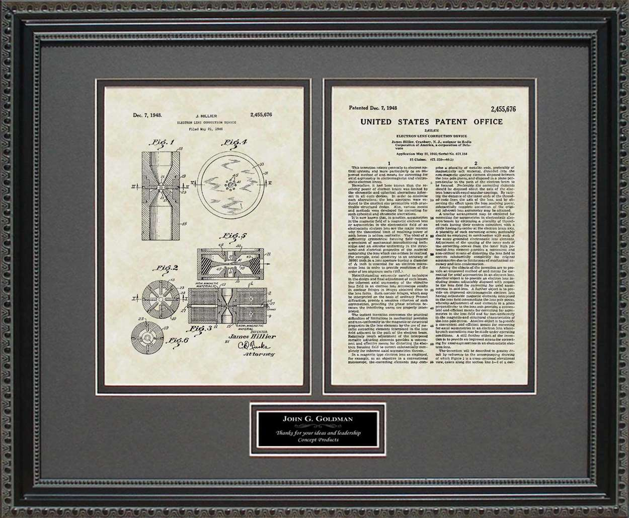 Personalized Electron Microscope Patent, Art & Copy, Hillier, 1948