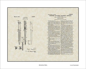 Mechanical Pencil Patent, Art & Copy, Hayakawa, 1926, 16x20