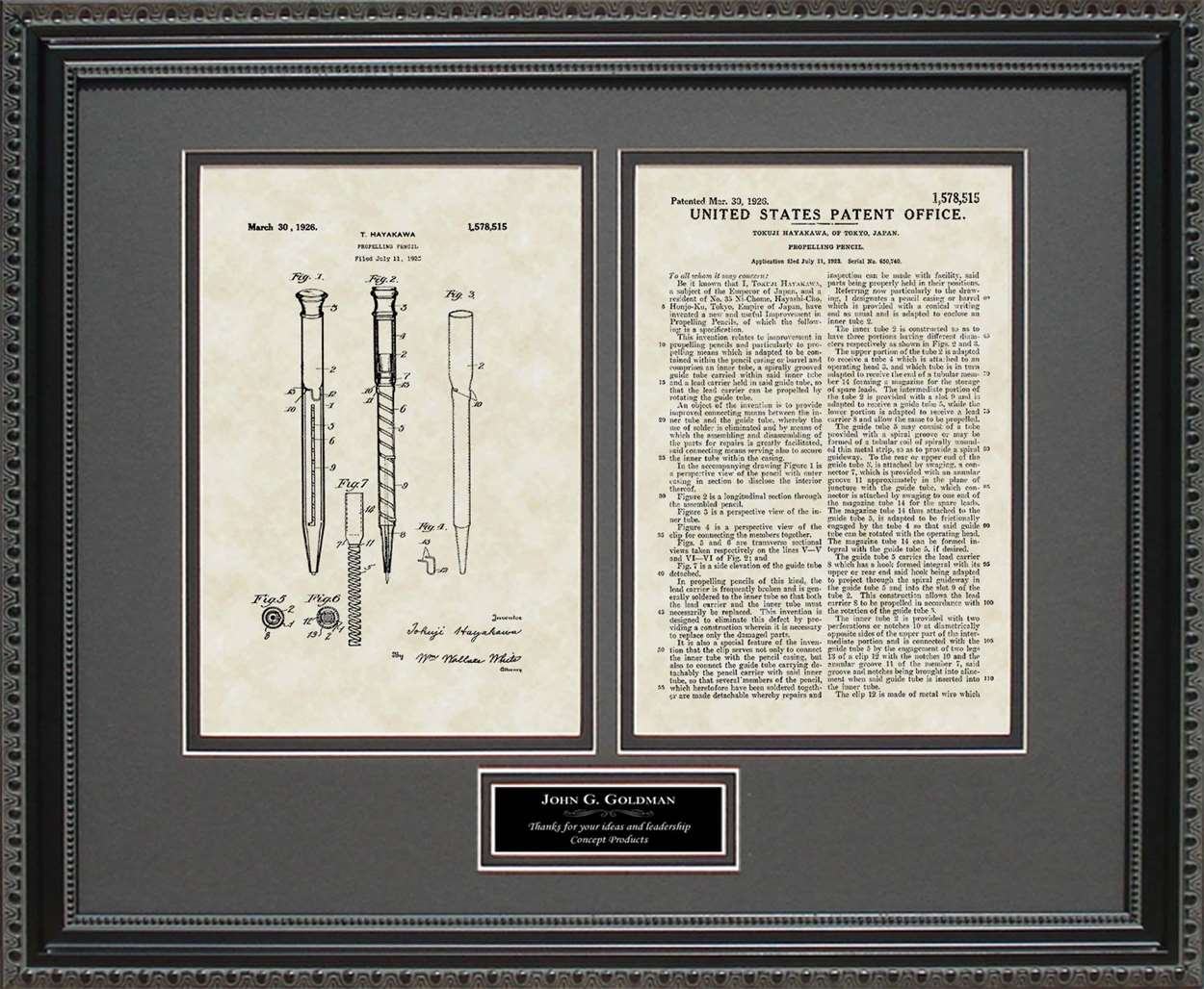 Personalized Mechanical Pencil Patent, Art & Copy, Hayakawa, 1926