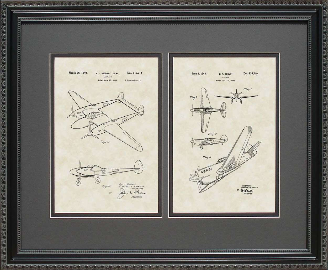 P-38 & P-41 Patents, 16x20