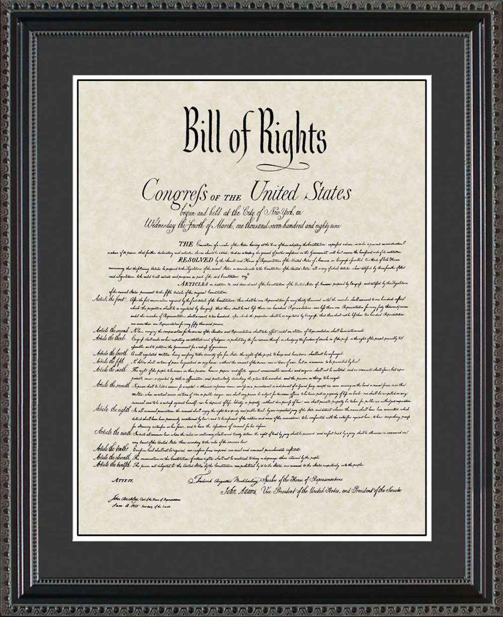 United States Bill of Rights, 20x24