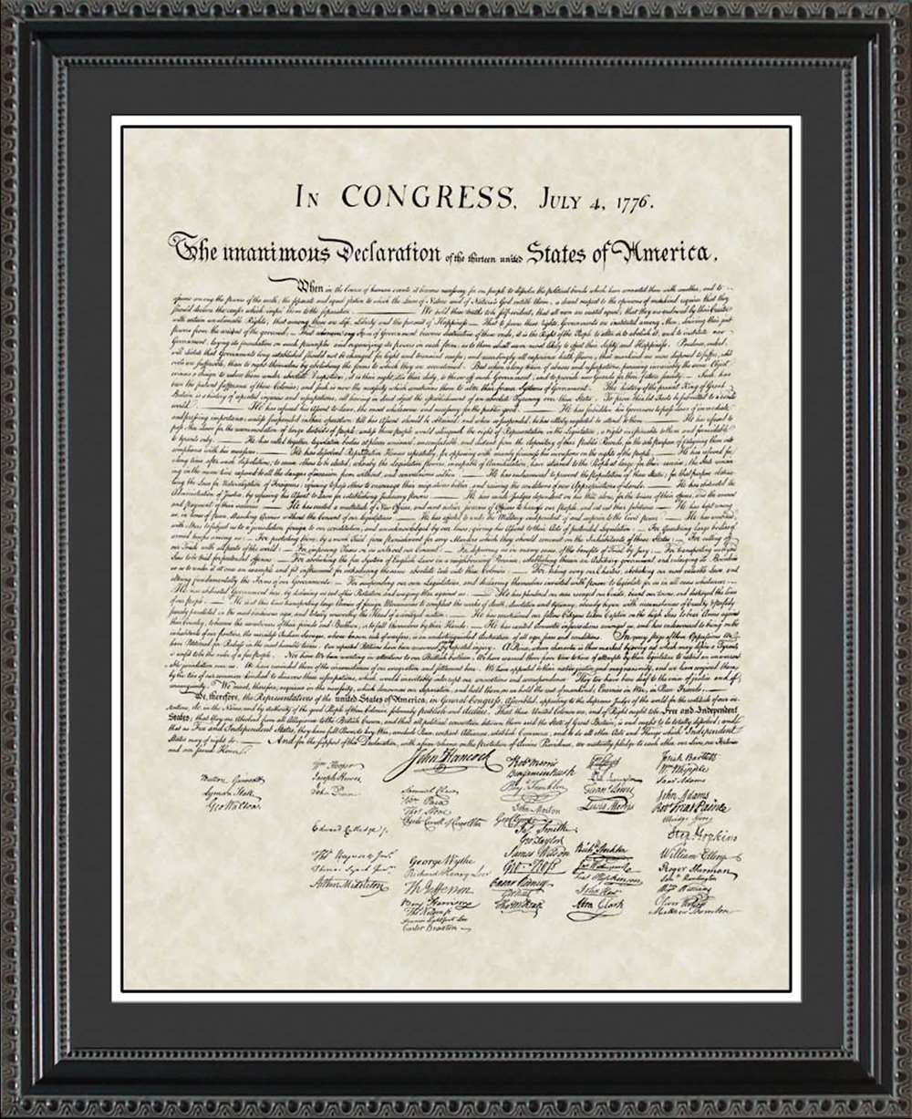 United States Declaration of Independence, 20x24