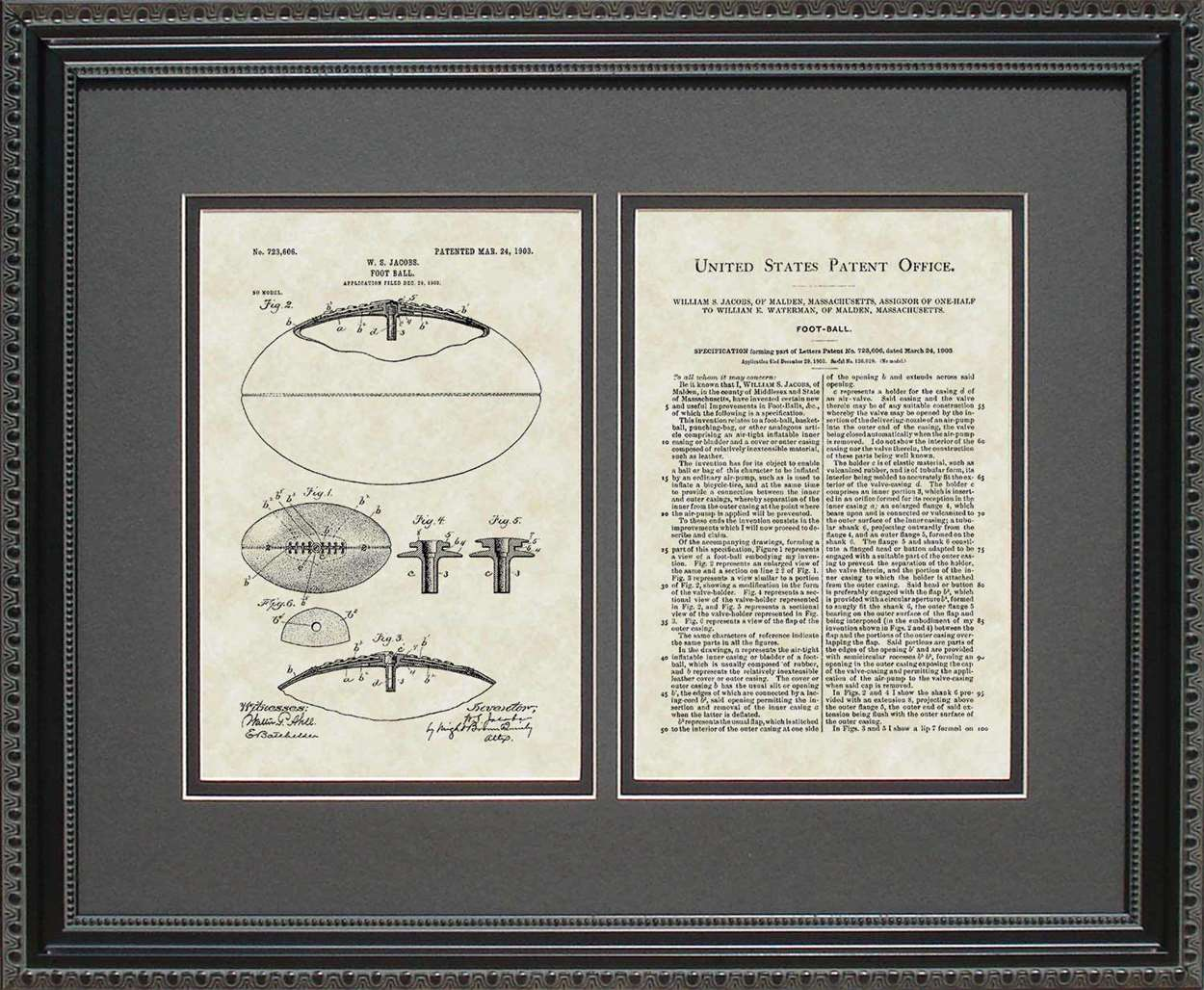 Football Patent, Art & Copy, Jacobs, 1903, 16x20